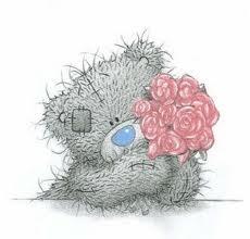Мишка Me to You с букетом роз