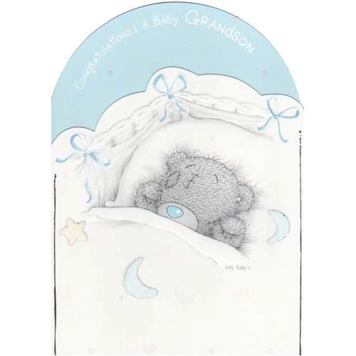 МедвежонОткрытка с новорожденным шаблон