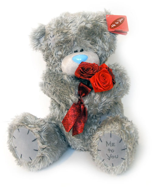Фото мишка с розами — загрузка