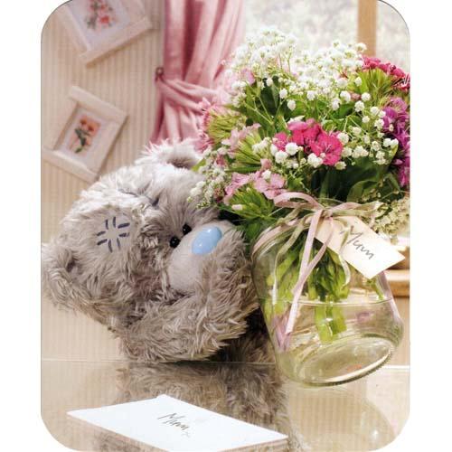 мишка с цветами картинки: